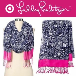 🎯🆕🧣 UPSTREAM Printed Scarf LILLY PULITZER